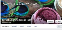 Sweet Libertine Street Team Facebook Group – Looking for a place to meet and get to know other Sweet Libertine lovers? If so, don't hesitate to join our Sweet Libertine Street Team Facebook group. There's pictures, product updates and sale announcements, general chatter, makeup advice, and a lot more!