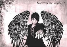 Adam Lambert with Angel Wings