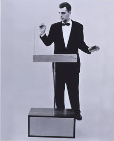 Two for one here. Dr.Robert Moog and the first Theremin he built.