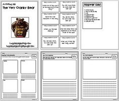 Here are a few printables to go with the book The Very Cranky Bear. There is an activity on text to self, text to text to text and reading comprehe. Reading Activities, Literacy Activities, Literacy Stations, Literacy Skills, Language Activities, Reading Resources, Literacy Centers, The Very Cranky Bear, Classroom Freebies