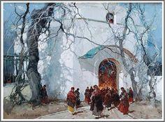 Stepan Kolesnikoff (1879-1955), #Russian Easter.