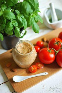 Pesto trapanese by Smakiempisany Pesto, Vegetables, Food, Essen, Vegetable Recipes, Meals, Yemek, Veggies, Eten