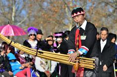 Traditional Hmong bamboo flute, a qeej.