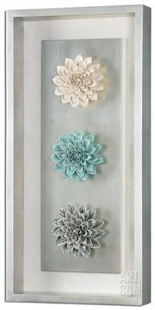 How beautiful this is, matted and framed flowers behind glass. This 'could'' -  {or something similar} be made from a shadowbox frame and any items...   Florenza Framed Wall Art Home Accessories at Art.com