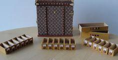 My little miniature world is a big amusement: Louis Vuitton schoenen Trunk