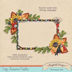 Scrapbooking TammyTags -- TT - Designer - Ponytails Design, TT - Item - Frame, TT - Style - Cluster, TT - Theme - Autumn or Thanksgiving