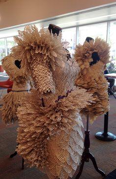 Fabulous paper dresses by artist Carrie Ann Schumacher.com at the Waukegan…