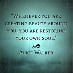 So imagine what you are doing to YOUR OWN soul when you create negativity.