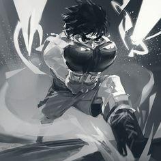 Anime Toon, Manga Anime, Otaku Anime, Anime Guys, Anime Art, Hajime No Ippo Wallpaper, Martial Arts Manga, Box Manga, Character Art