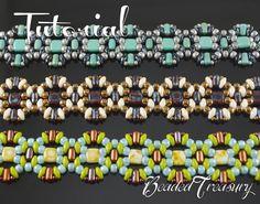 Perline tutorial pattern perline superduo rulla di BeadedTreasury