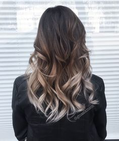 40 Glamorous Ash Blonde and Silver Ombre Hairstyles Ombre Hair Color, Silver Ombre Hair, Brown Ombre Hair, Ombre Hair Color, Brown To Grey Ombre, Brown And Silver Hair, Black And Blonde Ombre, Black To Silver Ombre, Brown Curls, Silver Blonde