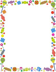 Free candy border templates including printable border paper and clip art versions. Vector images are also available. Printable Border, Printable Labels, Printables, Boarder Designs, Page Borders Design, Borders For Paper, Borders And Frames, Scrapbook Frames, Scrapbook Paper