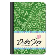 "Delta Zeta ""Paisley Print"" iPad Air Leather Protective Case"