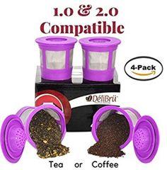 4 Reusable K Cups for Keurig 2.0 & 1.0 Coffee Makers Reusable K Cup, K Cups, Keurig, Dog Bowls, Dog Food Recipes, Coloring Books, Coffee Maker, Coffee Percolator, Coffeemaker