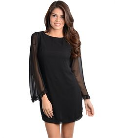 Mini dress with sheer sleeves https://www.wholesalefashionsquare.com/product-p/cn121437.htm