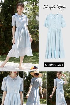 Cute Outfits For Kids, Cool Outfits, Summer Outfits, Summer Dresses, Retro Summer, Butterfly Embroidery, House Dress, Skirt Outfits, Beautiful Outfits