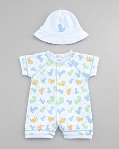 5c4ea939baf Dino Pals Short Playsuit  amp  Reversible Sun Hat by Kissy Kissy at Neiman  Marcus.
