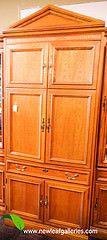 Oak Media Cabinet