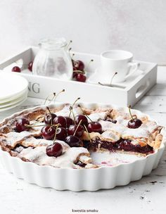cherry tart with shortcrust pastry