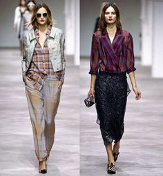 Dries Van Noten SS13 Plaids in a very fresh and new way. Perfect inspiration.