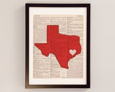 Houston Cougars Dictionary Print - University of Houston, Texas - Print on Vintage Dictionary Paper - Graduation Gift, Football University Of Houston, Baylor University, Atlanta Art, Atlanta Georgia, Athens Georgia, Waco Texas, Dallas Texas, Austin Texas