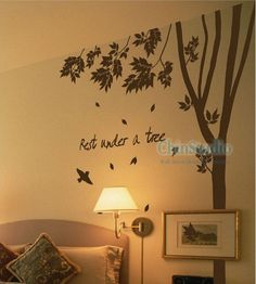 tall tree wall decals | Tree Vinyl wall decals tree decals wall stickers by ChinStudio