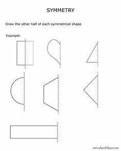 3rd grade, 4th grade Math Worksheets: Monster symmetry | Math ...