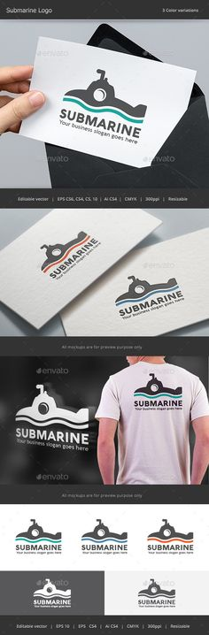 Submarine Logo — Vector EPS #water #sea • Available here → https://graphicriver.net/item/submarine-logo/14123513?ref=pxcr