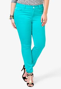 Colored Stretchy Skinny Jeans $19.80