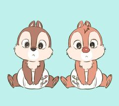 Baby Chip and Dale