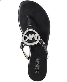 MICHAEL Michael Kors Shoes, Melodie Flat Thong Sandals - Shoes - Macys
