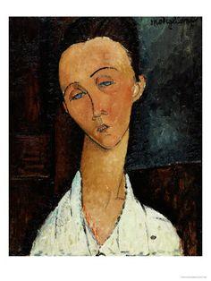 Lunia Czechowska circa 1917-18 by Modigliani