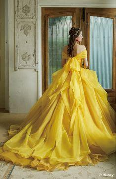 Princess Ball Gowns, Disney Princess Dresses, Disney Dresses, Princess Fashion, Pretty Prom Dresses, Beautiful Dresses, Yellow Wedding Dress, Fairytale Dress, Quince Dresses
