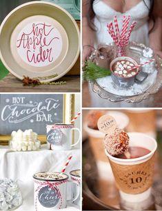 Simple  inexpensive Seasonal Wedding Decor - Hot Beverages
