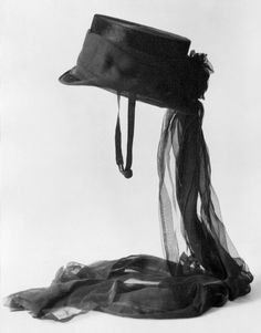 Riding Hat and Veil: ca. 1860's, belonged to Queen Sofia (Nassau) of Sweden.