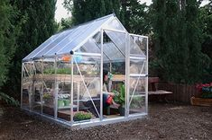 Amazon.com : Palram Hybrid Greenhouse - 6' x 8' - Silver, Plant Hangers Included : Garden & Outdoor