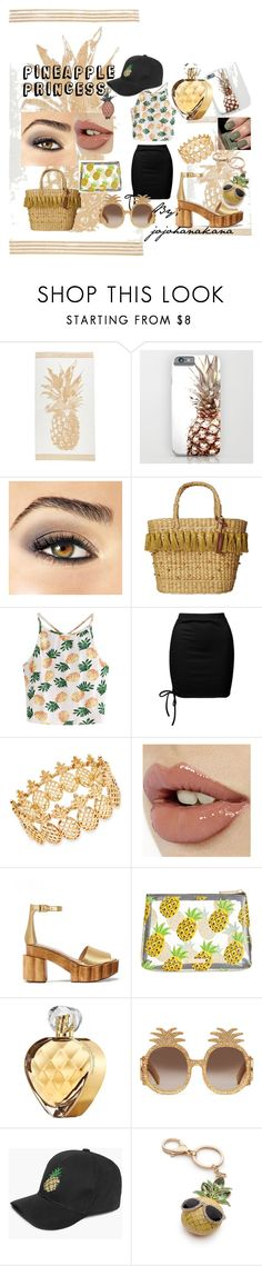 """""""Pineapple Princess"""" by jojohanakana on Polyvore featuring Avon, White Stuff, WithChic, Sans Souci, INC International Concepts, Chanel, Tory Burch, Skinnydip, Elizabeth Arden and Gucci"""