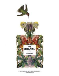 illustrator Sixto Juan Zavala redefines Chanel No. 5.