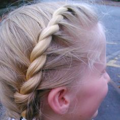 Rope twist pig tails :)