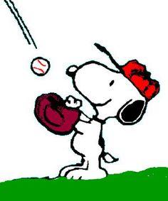 Baseball Snoopy- baseball season! :)