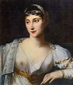 Pauline Bonaparte, Napoleon's sister. She, much to her brother's despair, led a very promiscious lifestyle and had herself sculpted half naked as Venus Victorious. Some historians like Flora Fraser even suggest that she slept with Napoleon. Silly, superficial and lazy Pauline was also loyal to her brother in exile when her other siblings were not and a very loving mother.