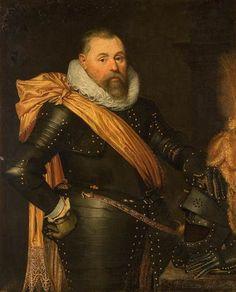 Jan Anthonisz. van Ravesteyn (and studio), Portrait of an Officer, 1615 - Mauritshuis The Hague