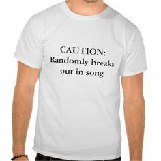 CAUTION musical lovers t shirt #Music #shirt #MusicDesign