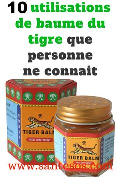 Health Discover 10 Utilisations du Baume du Tigre Que Personne Ne Connaît. Tiger Balm, Fitness Diet, Health Fitness, Health Tips, Health Care, Anti Cellulite, Natural Medicine, How To Fall Asleep, Home Remedies