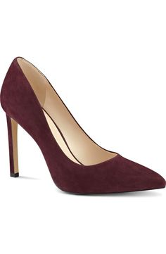 Absolutely in love these suede wine colored pumps by Nine West. They are the definition of classy and chic.