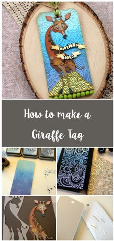 Christmas Gift Wrapping, Diy Christmas Gifts, Best Friend Gifts, Gifts For Friends, Giraffe, Elephant, Tim Holtz Dies, Tags Ideas, Halloween Favors