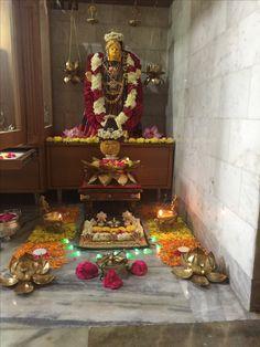 Pooja Room Design, Puja Room, Art Walls, Wall Art, Festival Decorations, Blouse Designs, Floral Arrangements, Diy And Crafts, Culture