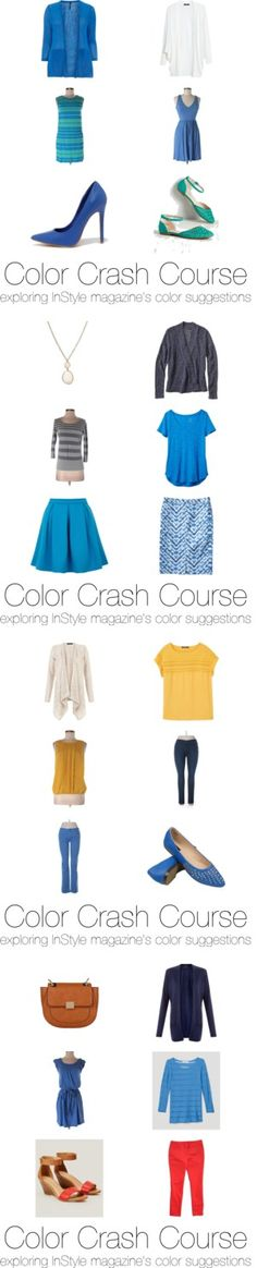 Color Crash Course: Bright Blue by krista-knudsen on Polyvore featuring мода
