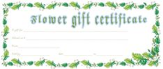 Leafs Border Flower Gift Certificate Template