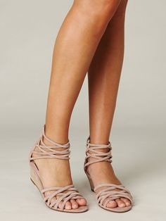 I really like these :) Nude Wedge Sandal